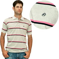 camiseta gola polo masculina cowboys listrada rosa e preto p15512 - Busca  na Cowboys 1404255a3fcac