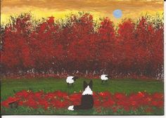 Border Collie Dog ACEO Art Painting Original Miniature by Todd Young. $24.95, via Etsy.