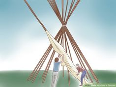 A traditional plains teepee (also spelled tipi) is a roomy and durable structure, big enough to house a fire and several people comfortably. Survival Shelter, Camping Survival, Outdoor Survival, Homestead Survival, Survival Skills, Survival Prepping, Survival Weapons, Tipi Diy, Diy Teepee Tent