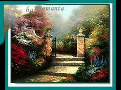 Thomas Kinkade Victorian Garden painting is shipped worldwide,including stretched canvas and framed art.This Thomas Kinkade Victorian Garden painting is available at custom size. Pretty Pictures, Art Pictures, Thomas Kinkade Art, Kinkade Paintings, Thomas Kincaid, Townhouse Garden, Art Thomas, Victorian Paintings, Victorian Gardens