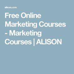 Free Online Marketing Courses - Marketing Courses | ALISON