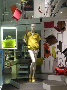 Longchamp ~ London windows, March 2014