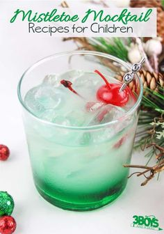 The Mistletoe Mocktail Recipe for Kids Holiday Drinks, Christmas Desserts, Holiday Recipes, Christmas Cocktails, Christmas Recipes, Christmas Ideas, Grandma's Chocolate Pie, Mocktails For Kids, Chinese Lemon Chicken