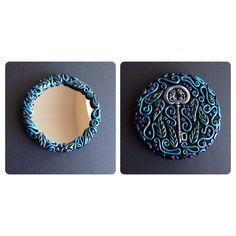 Polymer clay mirror Facebook.com/artfulparadox