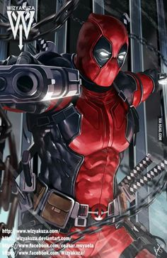 #Deadpool #Fan #Art. (Deadpool) By: Wizyakuza. (THE * 5 * STÅR * ÅWARD * OF: * AW YEAH, IT'S MAJOR ÅWESOMENESS!!!™)[THANK U 4 PINNING!!!<·><]<©>ÅÅÅ+(OB4E) https://s-media-cache-ak0.pinimg.com/564x/6c/78/c0/6c78c01c4e5b02bf3e7f5cbaa9caa06a.jpg