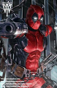 #Deadpool #Fan #Art. (Deadpool) By: Wizyakuza. ÅWESOMENESS!!!™ ÅÅÅ+