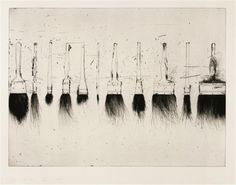 #ART | artist i like | Jim Dine  (Five Paintbrushes, 1973.)