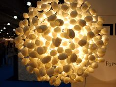 silk cocoons repurposed as lamp