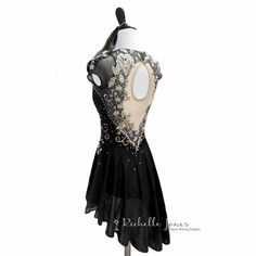 Appliqued Dance Figure Skating Dress with by RichelleJonesDesigns Ice Dance Dresses, Ice Skating Dresses, Dance Outfits, Tango, Figure Skating Outfits, Baile Latino, Diy Dress, Dress Ideas, Ballet