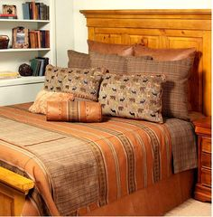 Klondike Bedding Set. $667. Alaska themed bedding. Lodge bedding and rustic bedding sets are a great way to liven up your room. Rustic Bedding Sets, Bedding Collections, Comforters, Couch, Blanket, Pillows, Alaska, Furniture, Bedroom Ideas