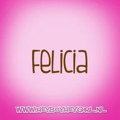 Felicia (Voor meer inspiratie, en unieke geboortekaartjes kijk op www.heyboyheygirl.nl)