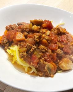 Summer Squash and a meaty pasta sauce