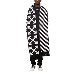 ca2405afebe Diagonals + arrows big scarf from the S S2017 Off-White c o Virgil Abloh  collection in black