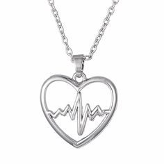 Nurse Heartbeat Pendant Necklace - free shipping worldwide