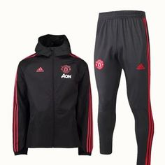 bc9432be6322 Manchester United F.C. FOOTBALL CLUB Adidas 2018 - 19 TRAINING Casual TOP  TRACKSUIT FÚTBOL CALCIO SOCCER