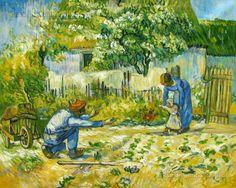 First Steps (after Millet) by Vincent van Gogh