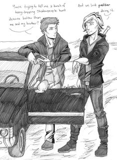 Dean meets Jace by chrysalisgrey on deviantART