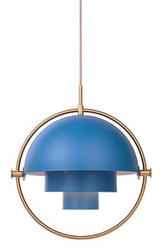 The Multi-Lite was first drawn in 1972 when Louis Weisdorf did an exception to his own design custom of using multiple repeating elements. Instead it reflects his passion for diversity. The Multi-Lite pendant has two individual rotating shades and can be transformed into multiple combinations where the light can be directed upwards, downwards or exude an asymmetrical art light.