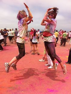 The Color Run is a fun 5K that has many benefits to it. You can just have a fun time with friends while working out and staying active.