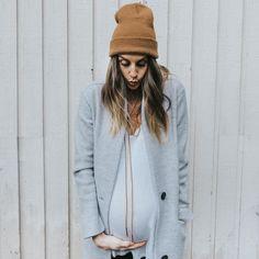 Winter maternity style
