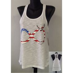 Racer tank w/ laced back- USA Infinity ($19.99)