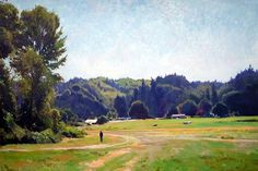 William E. Elston, Perfect Blue Day, oil on canvas, 48X72 in, copyright ©2001