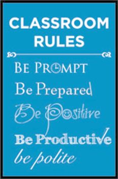 Classroom Rules Poster Multi-Colored - A Space to Create - Free