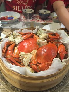 Steam crab with stick rice