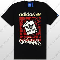 0febff57 adidas Originals Mens G Off The Wall Trefoil T-Shirt at QV casuals.  Specialists in rare and hard to find adidas Originals graphic tees.