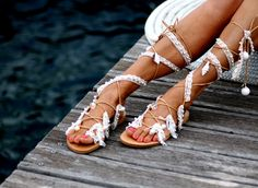 Sandals Ever after handmade to order par ElinaLinardaki sur Etsy