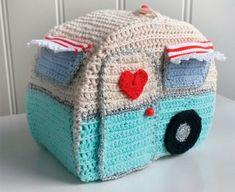 Hæklet campingvogn Knitted Hats, Knitting, Crochet, Disney, Amigurumi, Cuddling, Threading, Diy, Tricot