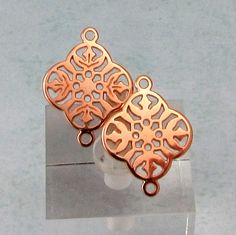 Filigree Connector Rose Gold 2 Pieces RG28 by FabBeads on Etsy