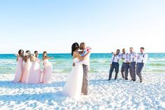 kissing bride and groom beach wedding g