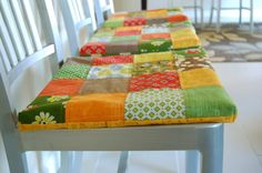 Patchwork Seat Cushions (includes tutorial)