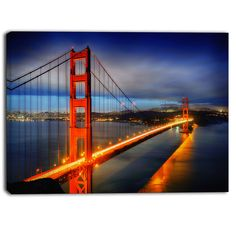 Designart - Golden Gate Bridge - Landscape Photo Canvas Print by DESIGN ART