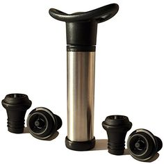 Upgraded version Proimb Wine Saver Pump Preserver with 4 Vacuum Bottle Stoppers >>> Click image for more details.