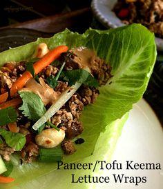 Paneer / Tofu Keema Lettuce Wraps – DFT | simplyvegetarian777