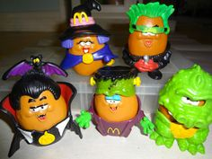 I HAD ALL OF THESE!!  Halloween McNugget Buddies (1993)   The 26 Most Awesome Happy Meal Toys Of The'90s