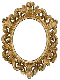 This is a frame from my personal collection. Ornate Gold and Silver - Round Frame Vintage Frames, Antique Frames, Chic Antique, Vintage Wood, Round Picture Frames, Printable Frames, 3d Texture, Circular Pattern, Borders And Frames
