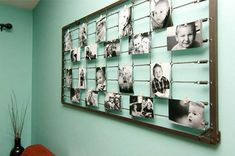 Creative photo display using metal/wire bed base