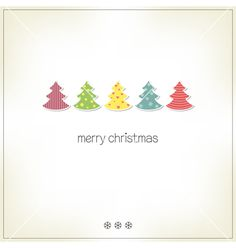 Christmas trees vector by CatChat on VectorStock®