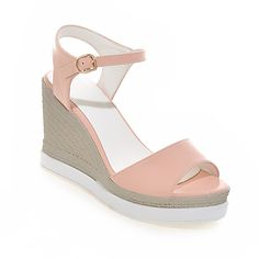 Lucksender Womens New Summer Open Toe Wedge Heel Sandals * You can find more details by visiting the image link.