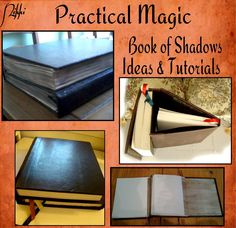 I have found some blogs and such with tutorials and documenting other's attempts to recreate this deliciously fabulous Book of Shadows.