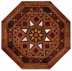 Handmade Mosaic wooden box cover.
