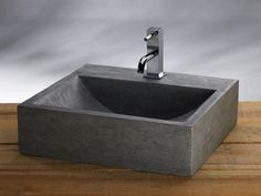 B-Stone Grey Himalaya Wastafel natuursteen Cuba, Granite, Toilet Room, Grey Stone, Concrete, Sink, Shower, Bathroom, Design