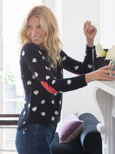 Gwyneth Paltrow models her Goop x Chinti and Parker sweater