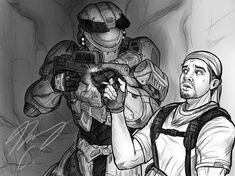 Halo-Ween 2019 - Put that Out! by on DeviantArt Halo Collection, Girls Time, Everything Is Awesome, Character Description, Drawing Tools, User Profile, Deviantart, Digital, Fictional Characters
