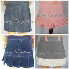 Lindsay Denim fray hem and mini skirt pattern 4 variations for 18 in doll pattern PDF email delivery Ag Doll Clothes, Doll Clothes Patterns, Clothing Patterns, Doll Patterns, Clothing Ideas, Ag Dolls, Girl Dolls, American Girl Clothes, Sewing For Kids