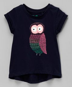 Twilight Blue Owl Penelope Hi-Low Tee - Infant, Toddler & Girls by Cotton On Kids #zulily #zulilyfinds