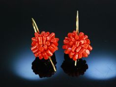 Lovely coral earrings! Traumhafte moderne Sardegna Korallen Ohrringe Ohrhänger
